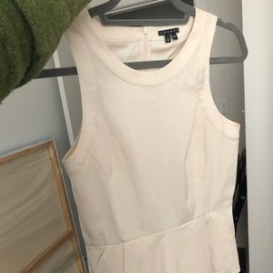 Theory cream sleeveless top size P (XS/S)